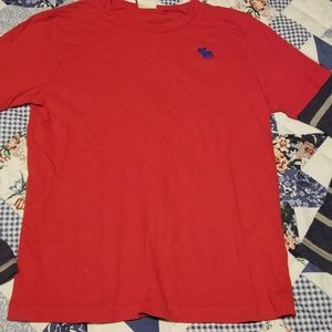 Boys Abercrombie Kids Red Shirt Size Medium